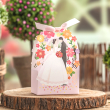 50psc Garden creative personality wedding gift box hollow wedding candy box souvenir bags decoration wedding favors and gifts
