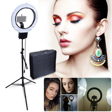 Studio 40W 5400K Diva Ring Light Lamp with 2M Tripod Stand + Camera Phone Holder Kit for Photography Make Up Video Photo Selfie(China)