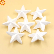 New!25PCS/lot 7CM DIY White Foam Stars Modelling Polystyrene Styrofoam Foam Ball Christmas Party Decoration Supplies/Kids Gifts