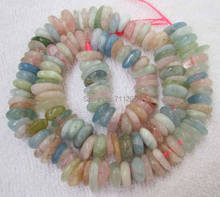 "8-12mm Natural Multi-Color Aquamarines Freeform Loose Beads 16"",we provide mixed wholesale for all items !"