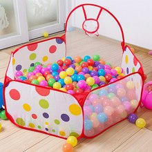 New Arrival 90cm/120cm/150cm Funny Basketball Childrens Kids Baby Toy Tent Ball Pit Playhouse Pop Up Garden Pool(China)