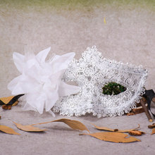 10 Styles Venetian Lace Rhinestone Brilliance Lily Princess Side Flower Halloween Party &Party Feather Mask Stag Party Mask