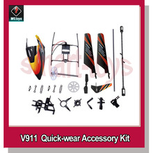 Wltoys V911 RC Helicopter Accessories Bag upgrade flybar canopy blade landing skid gear Frame Connect Buckle(China)