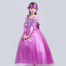 Retail Abbie Princess New Year Kids Cosplay Dress Carnival Costume Rapunzel Princess Party Girls Dresses Costumes SMR006