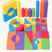 50 Pcs Bright Color EVA Foam Building Blocks Creative Safe Soft Children Gifts Baby Early Educational Classic Cube Toys For Kids(China)