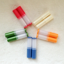 (50pieces/lot)Empty lipstick tubes Plastic slim lip balm tubes 4g Korea style lipstick tube high quality