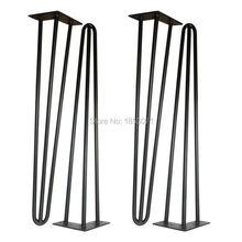 "Free shipping -24""hairpin legs-matte black -set of 4 Dining Table legs,computer desk legs,Decoration Metal furniture Legs(China)"