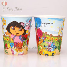 Party supplies 10PCS DORA THE EXPLORER theme party decoration disposable tableware one-off paper cups cup