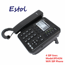 4 SIP lines WiFi VoIP Phone,desktop wireless ip phone asterisk elastix sip telephone