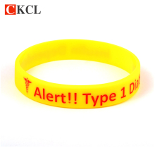 Diabetic bracelets medical alert jewelry for women men silicone awareness bracelet nurse armband