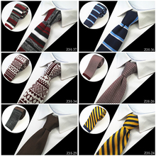 GUSLESON Brand New Fashion Mens Knitted Neck Ties Men Knit Tie Slim Designer Cravate Narrow Skinny Neckties For Men Neckwear