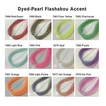 Combo Realistic-Fly-Tying-Materials Accent River Flashabou 12-Color Dry-Fli Dyed-Pearl