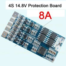 4s cell 14.8V 8A w/Balance Li-ion Lithium 18650 Battery Charge BMS PCB Protection Board(China)