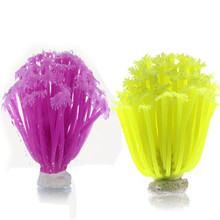 Plastic artificial water sea anemone plant decoration aquarium fish tank only silica gel coral aquarium accessories wholesale(China)