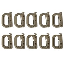 10pcs D-ring Soft Tactical Locking Strap Buckle Climbing Carabiner(China)