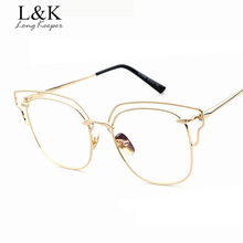 Long keeper Plain Eyeglass Frame Clear lens Optical Glass for Men Half Hollow Out Shield Frame Glasses oculos de grau feminino