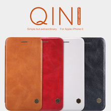Nillkin Qin Genuine Wallet Leather Case For Apple Iphone 6 6s Plus Bag Cases For Iphone 7 7 Plus Phone Funda 8 Plus X Cover(China)