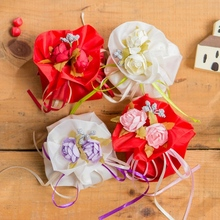 Newly 4 Pcs/Lot Wedding Candy Bags Valentine Choco Sweet Bag Bonbonniere with Ribbon Organza Gift Bags Party Supplies