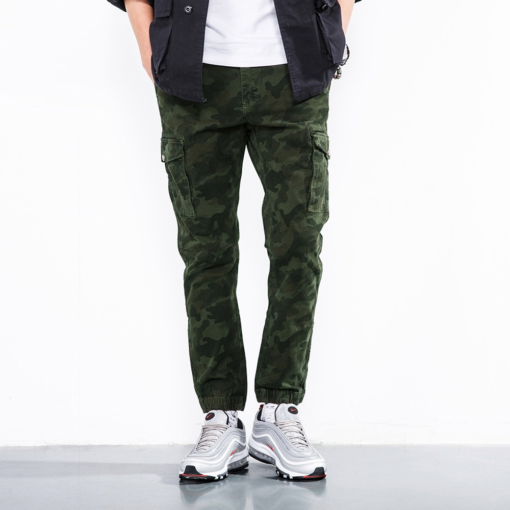 ICPANS Pants Full Leng Cotton Casual Skinny Military Tactical Pants Men Slim Stretch khaki Black Camo Cargo Pants Men Army