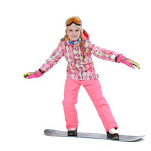 Winter Outdoor Children Clothing Set Windproof Ski Jackets + Pants Kids Snow Sets Warm Skiing Suit For Boys Girls(China)