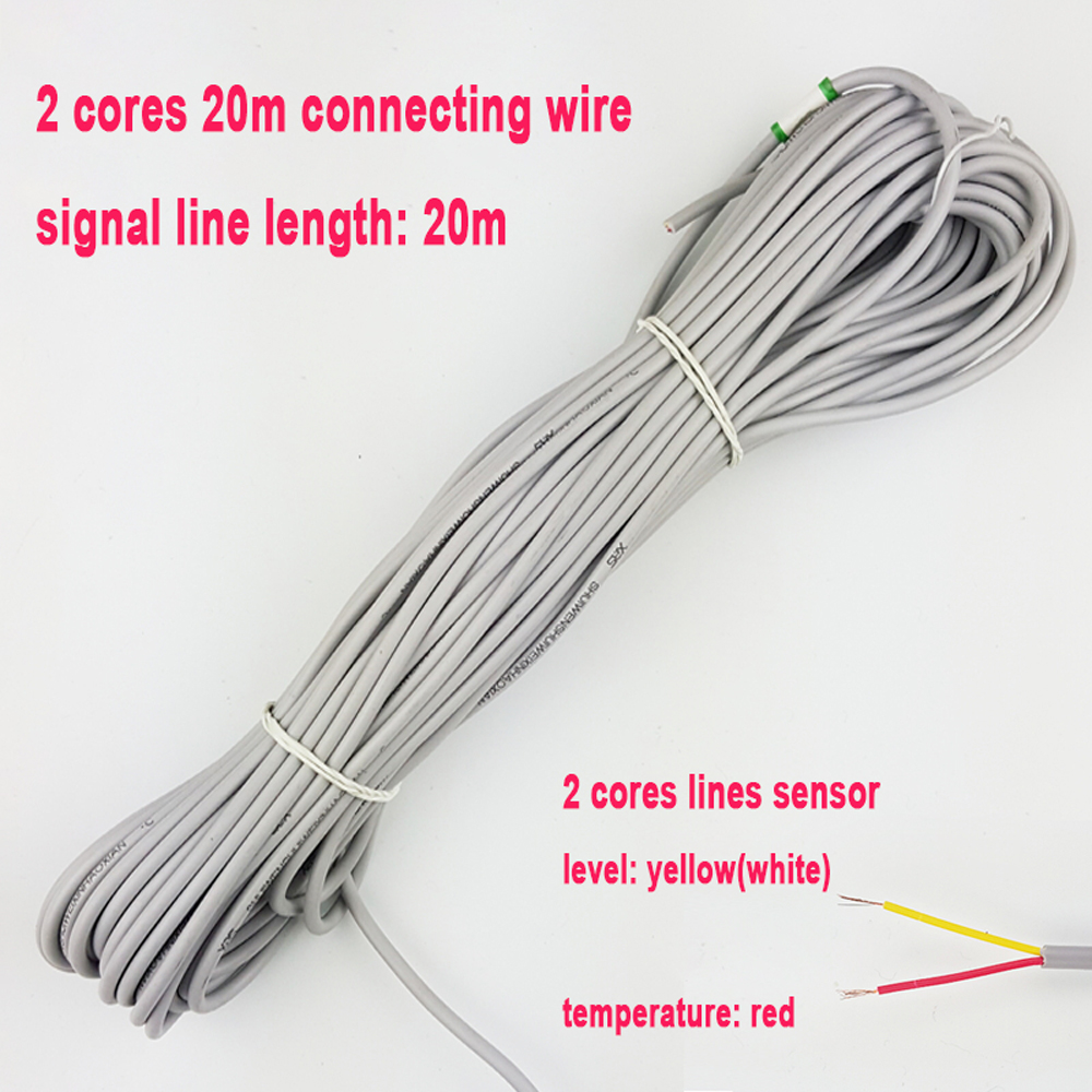 Solar energy water heater temperature water level 2 cores signal line 20m connecting wires