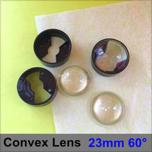 10 sets/lot 23mm 60 degree LED Lenses Black Bracket Holder Set Angle Lens PMMA Optical Lighting Convex Lens Reflector Collimator
