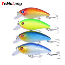 Buy YeMuLang 4pcs/lot Hard Fishing Lures Crankbait Fishing Wobblers Hard Bait Bass Spinner Lure 8# Hooks Pesca Fishing for $5.19 in AliExpress store