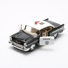 KINSMART 1:40 Alloy Diecast Models Car Toy, Brinquedos , Pull Back Police Car Toys For Children , Doors Openable(China)