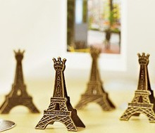 5 pcs/lot Effiel Tower Paris Metal Memo Paper Clips for Message Decoration Photo Office Supplies Accessories Free shipping 02603