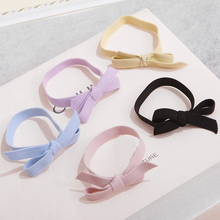 Korean elastic hair bands candy color pink yellow blue hair ornaments Accessories ponytail holder scrunchy headdresses YT-98