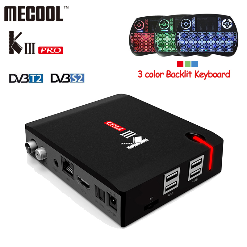 KIII Pro DVB-S2 DVB-T2 Android 6.0 Smart TV Box Amlogic S912 Octa core 3GB/16GB Bluetooth 4.0 Wifi Media Player KIIIPro+Keyboard