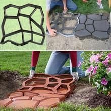 Plastic path maker mold 43.5*43.5cm manually paving cement brick stone road concrete molds DIY plastic mold for garden