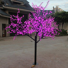 H: 2M 1188 leds outdoor christmas pink/white/red/yellow/ led cherry tree light(China)