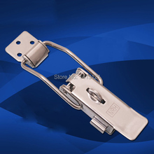 free shipping 304 Stainless steel buckle latch spring snap Insurance Electrical medical equipment box bag case hardware part(China)