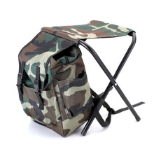Recreational Fishing Chair Camouflage Bag Portable Folding Stool Backpack Outdoor Folding Fishing Chair Backpack 32*28*32cm(China)