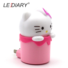 LEDIARY Hello Kitty LED Night Light/Baby Lamp 100-230V US/EU Plug With Sensor Controller Christmas Decoration/Gift Cute Cat