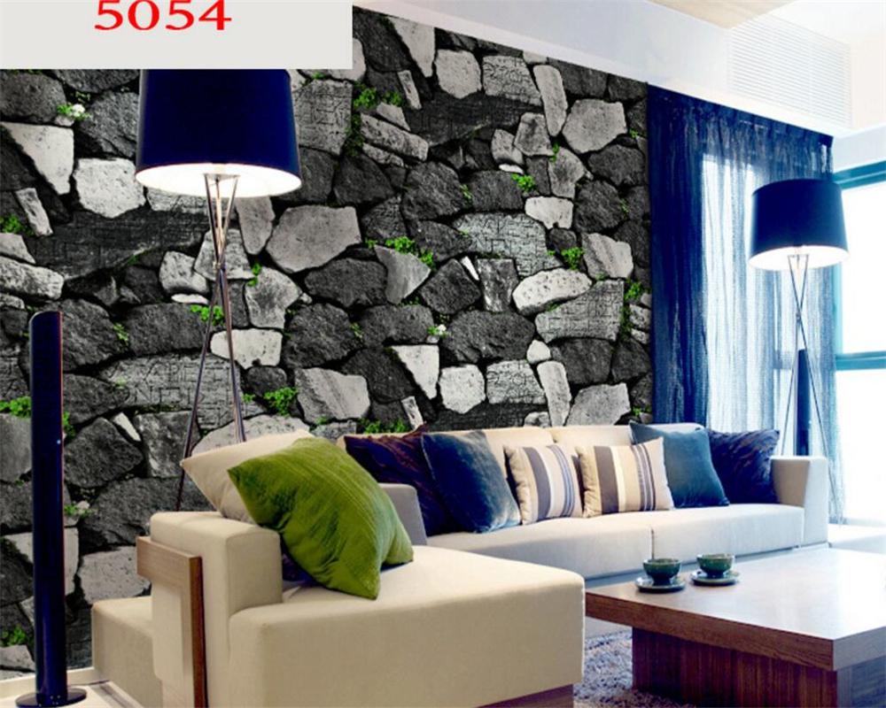 Beibehang 3D Wallpaper Rocks Simulation Bricks Marble Wallpapers TV Backdrops Hotels Club Wallpaper roll wallpaper for walls 3 d<br>
