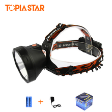 TOPIA STAR High Power Head Lanterns Rechargeable Cree Xml T6 5000 LM Miners Light Led Headlamp