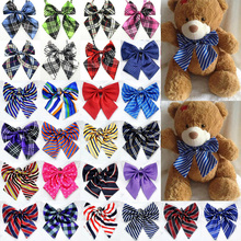 Factory (30 Piece /lot) Wholesale Adjustable Mixed Poodle Dog Cat Bow ties Pet Vintage Puppy Bows Ties Bandanna Accessories(China)