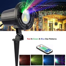 Star RGB laser Projector Showers motion Red Green Blue Lights With RF Remote Waterproof IP65 for Outdoor Xmas Landscape Garden(China)