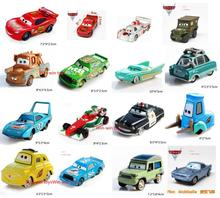 Pixar Animation Studios Cars 2 Alloy car 1:55 Model Decoration Dolls Lightning McQueen The King Sally McQueen Mater Fillmore FLo(China)