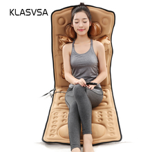 KLASVSA Airbag Magnetic Vibrate Heating Massage Mattress Cervical Therapy Neck Shoulder Back Waist Body Relaxation Bed Cushion(China)