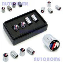 2 Sets M Sport M Tech Logo Emblem Wheel Tyre Valve Stems Air Dust Cover Screw Caps 1 Set = 4Pcs