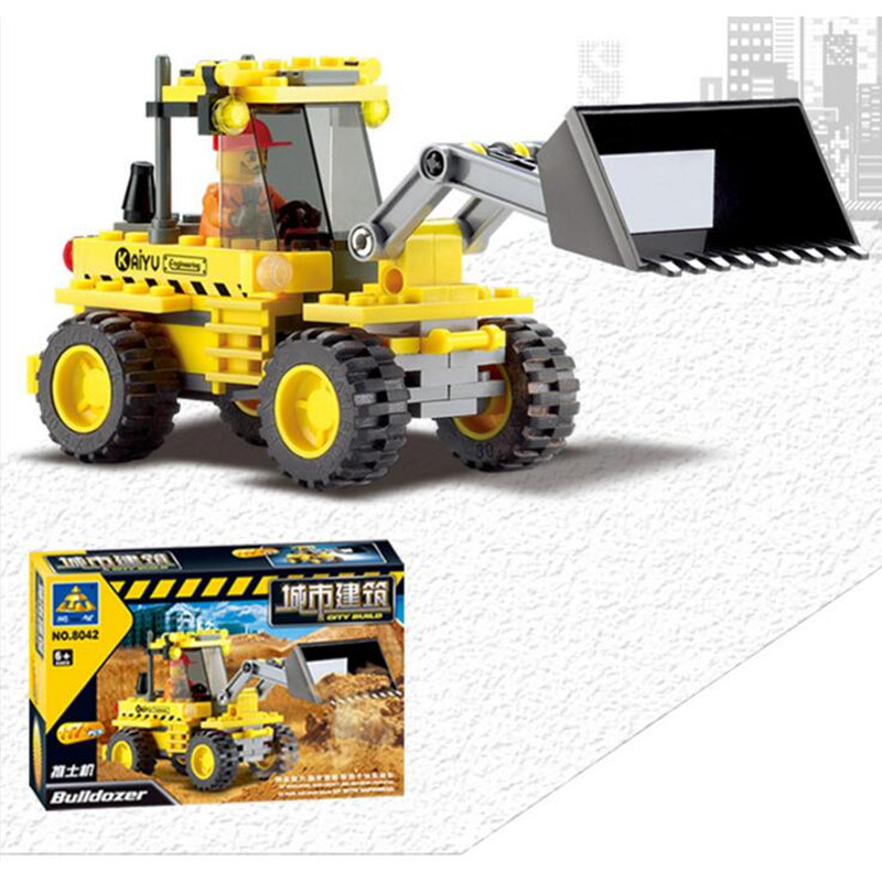 8042 Bricks Simulation Miniature Model Bulldozer Forklift Truck Beach Tractor Cars Building Blocks Compatible With gift<br><br>Aliexpress
