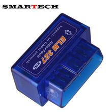 SMARTECH Mini ELM327 Bluetooth OBD2 V1.5 Elm 327 Android Adapter Car Scanner OBD 2 Elm-327 OBDII Auto GPS Receiver Tool Scanner(China)
