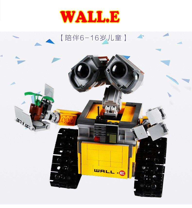 Idea Robot WALL E Building Set Kits Toys Educational Bricks Blocks Bringuedos 21303 compatible Legoings 16003 for Children Gift<br>