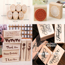 Special offers,(24 Different Styles) DIY Scrapbooking Alphabet Stamps Vintage Wood Rubber Craft Ink Pad Stamp Wax Seal Stamp