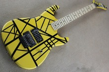 2016 new + factory + Eddie Van Halen Signature Kram Guitar EVH Kram guitar free shipping yellow body black strip kramer 5150