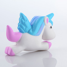 13.5 CM Jumbo Unicorn Horse Gags Joke Prop Cute Squishy Slow Rising Relieves Stress Kid Toy Colorful Christams Gift P15(China)