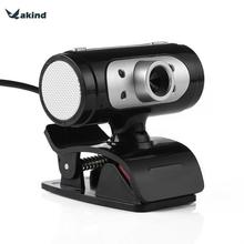 Full HD 1280*720 720P Pixel 4 LED Night Light Webcam Camera with Mic Microphone For Computer PC Laptop
